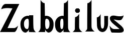 Zabdilus Font