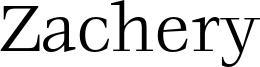 Zachery Font