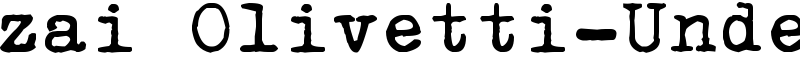 zai Olivetti-Underwood Studio 21 Typewriter Font