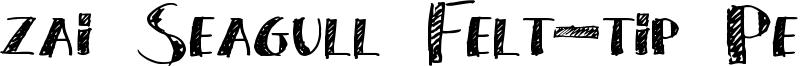 zai Seagull Felt-tip Pen Font