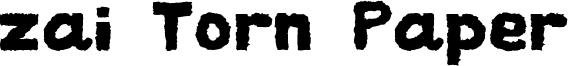 zai Torn Paper Font