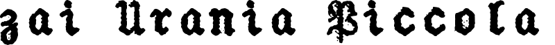 zai Urania Piccola Typewriter Font