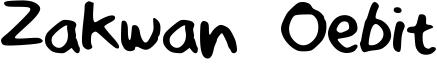 Zakwan Oebit Font