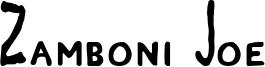 Zamboni Joe Font