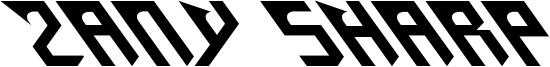 Zany Sharp Font