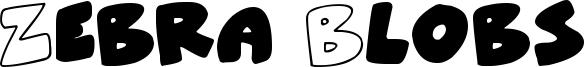 Zebra Blobs Font
