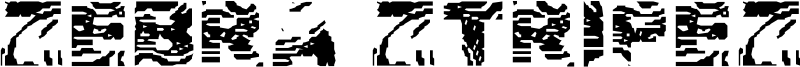 Zebra Ztripez Font
