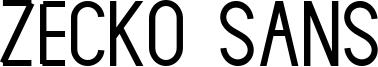 Zecko Sans Font
