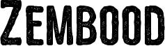 Zembood Font