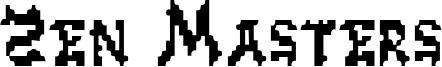 Zen Masters Font