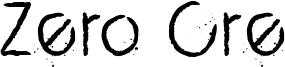 Zero Cre Font