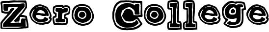 Zero College Font