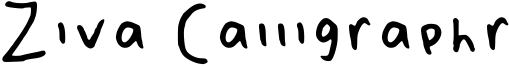 Ziva Calligraphr Font