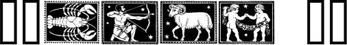 Zodiac 01 Font