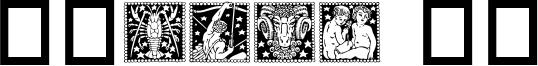 Zodiac 02 Font