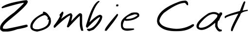 Zombie Cat Font