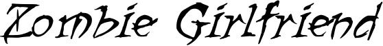 Zombie Girlfriend Font