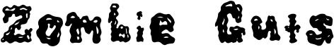 Zombie Guts Font