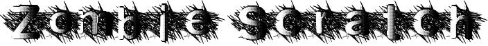 Zombie Scratch Font