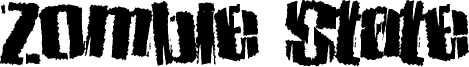 Zombie State Font