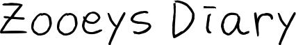 Zooeys Diary Font