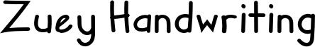 Zuey Handwriting Font