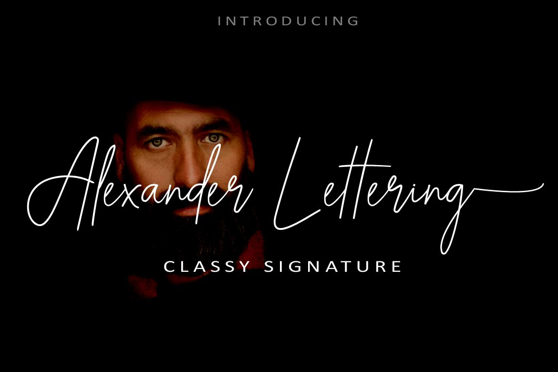 Alexander-Lettering