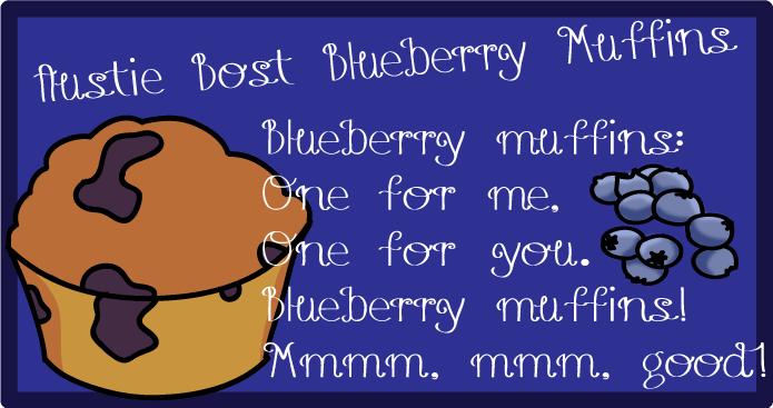Austie Bost Blueberry Muffins