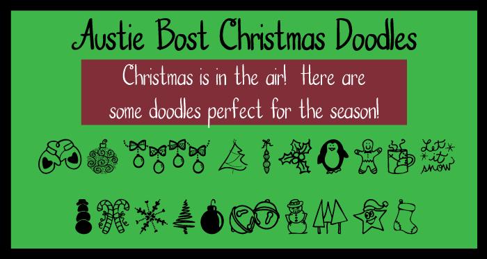 Austie Bost Christmas Doodles