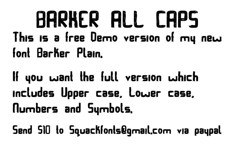 Barker AllCaps