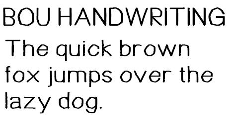 Bou Handwriting