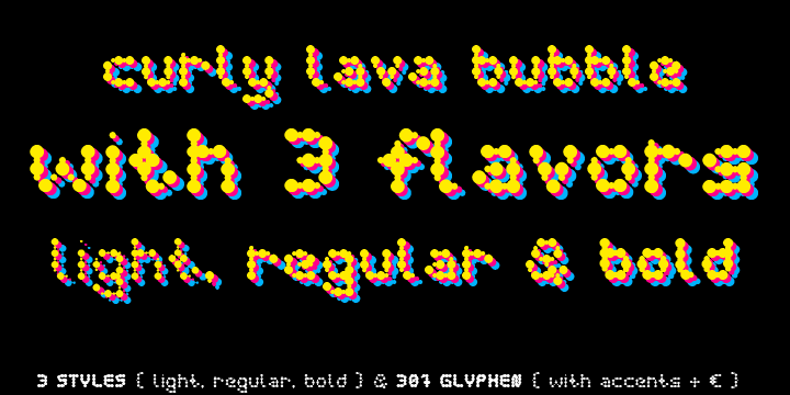Curly Lava Bubble