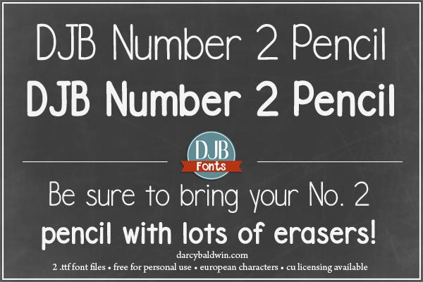 DJB Number 2 Pencil