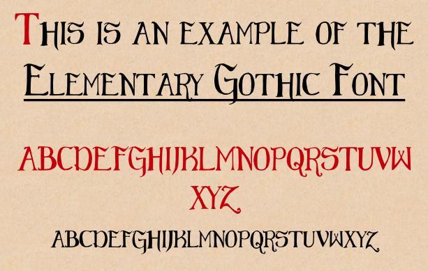 Elementary Gothic