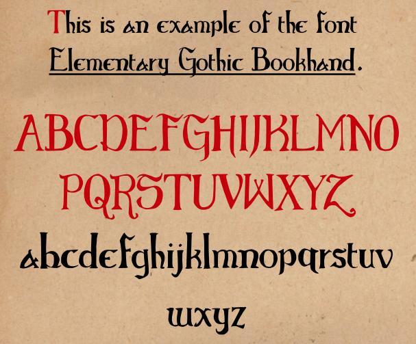 Elementary Gothic Bookhand