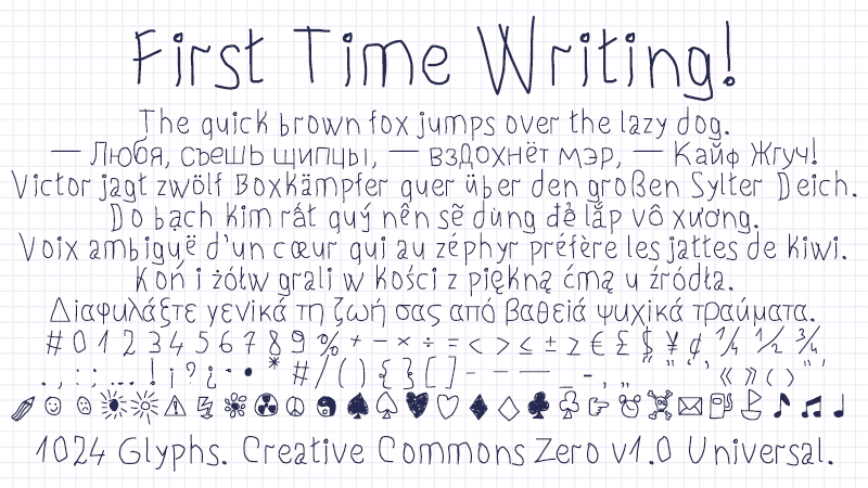 First Time Writing!
