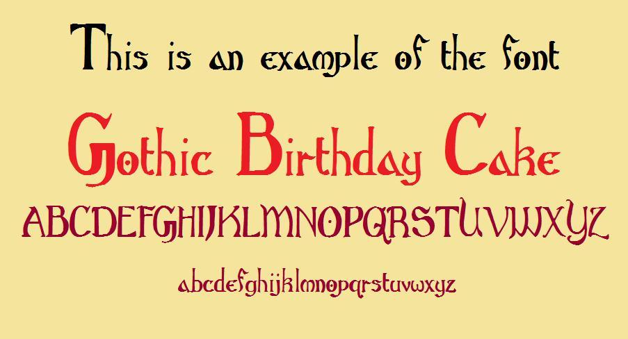 Gothic Birthday Cake