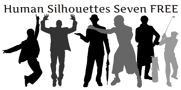 Human Silhouettes Free Seven