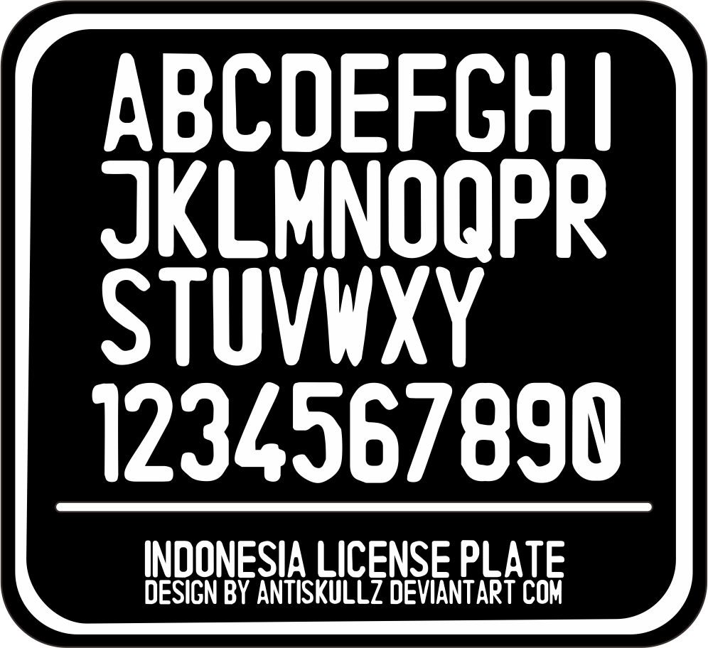 Indonesia License Plate