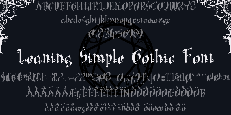 Leaning Simple Gothic Font