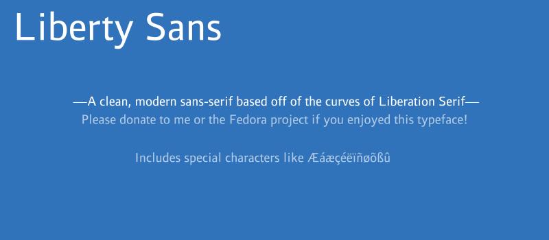 Liberty Sans