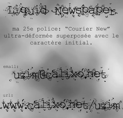 Liquid Newspaper