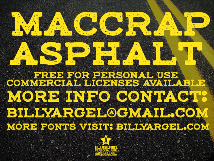 Maccrap Asphalt