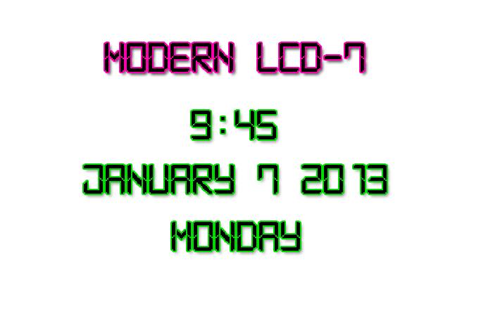Modern LCD-7