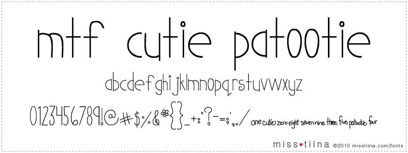 MTF Cutie Patootie