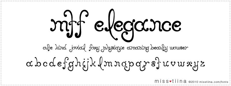MTF Elegance