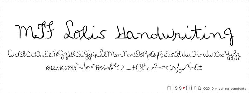 MTF Loli's Handwriting