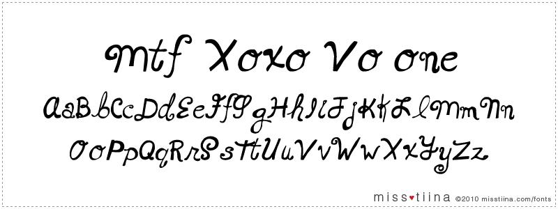 MTF Xoxo Vo.1