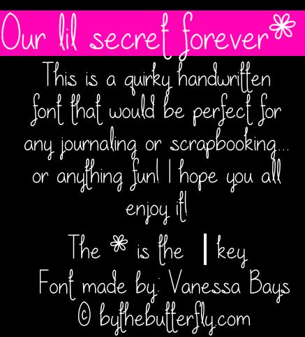 Our lil secret forever