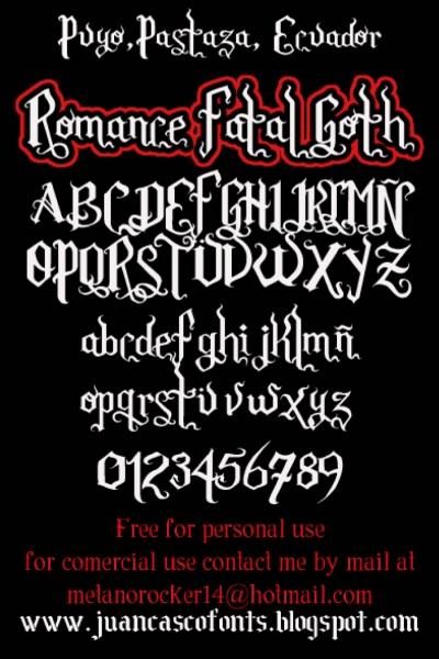 Romance Fatal Goth